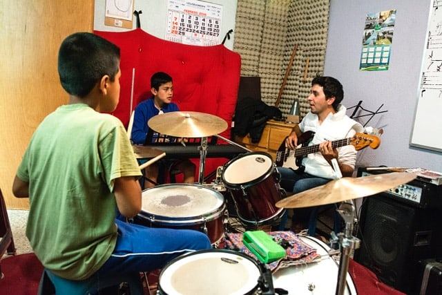 Students at the Atitlan Music School